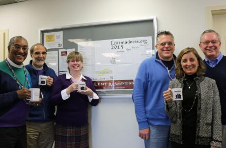 """Bishop and staff participating in """"Lent Madness"""""""