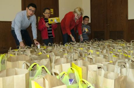 St. James', Upper Montclair collects bountiful harvest of food, shoes and diapers for needy