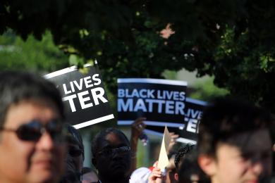 """BLACK LIVES MATTER"" signs"